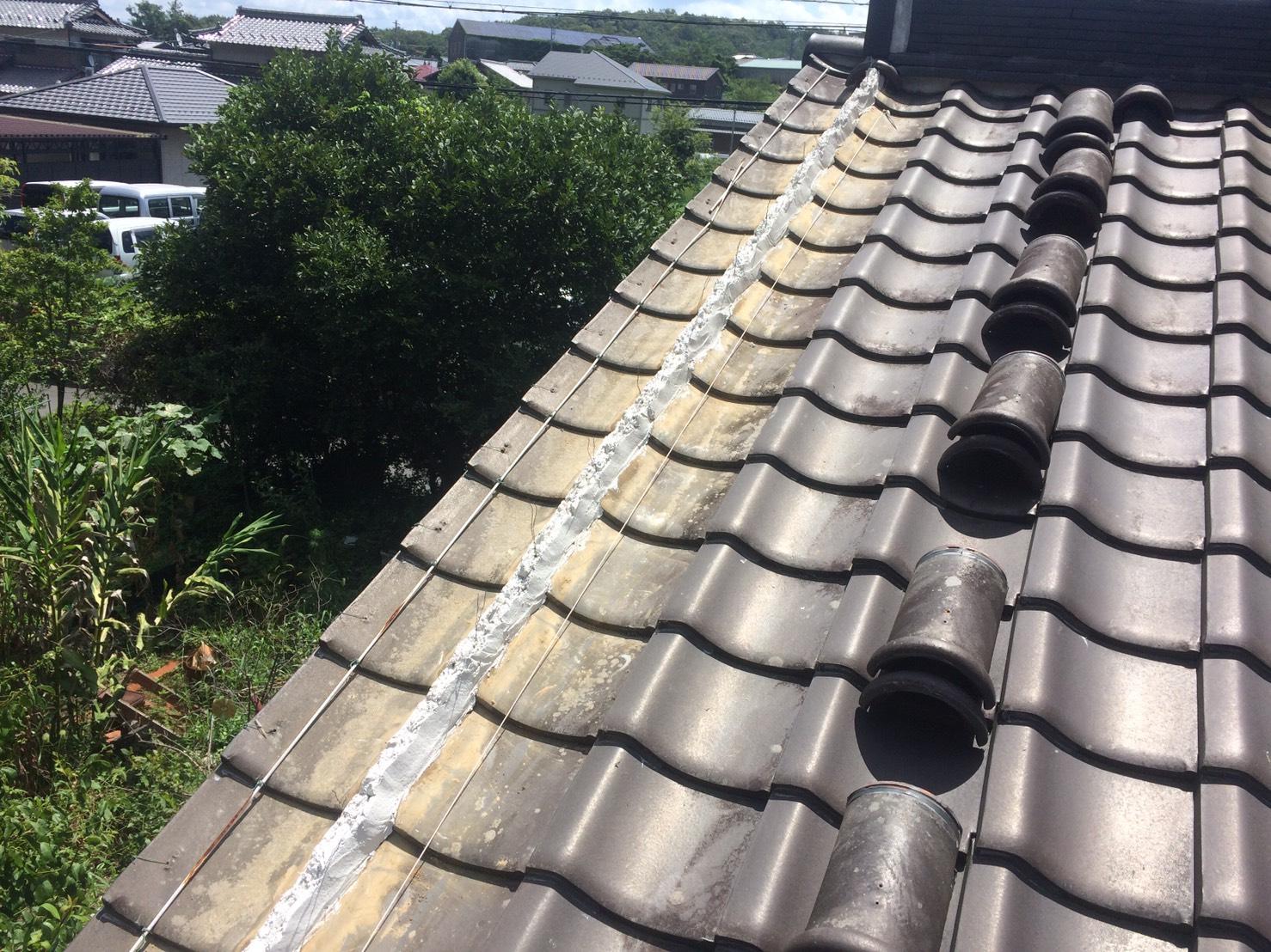 多治見、可児、土岐、瑞浪、岐阜愛知の塗装屋エスエスホームの瓦屋根補修、要は漆喰